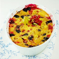 Gooseberry Red Currant Blueberry Clafoutis