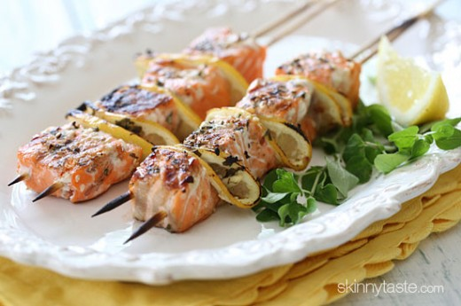 Grilled Salmon Skewers Recipe