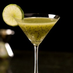 Kiwi Melon Cocktail with Vodka and Whiskey