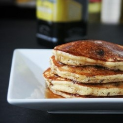 Olive Oil Dark Chocolate Chip Pancakes