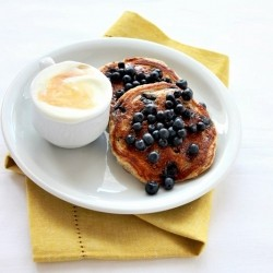 Pancakes with Blueberries and Yogurt Recipe