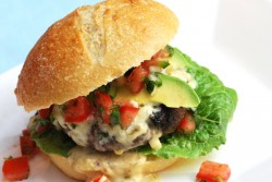 Queso Avocado Burger for Summer