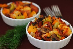 Roasted Butternut sausage Fennel Stuffing