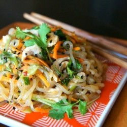 Sesame Chicken Shirataki Noodle Stir-Fry Recipe
