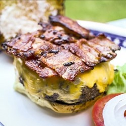 Short Ribs Cheeseburger with Bacon Weave Recipe