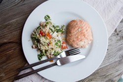 Shrimp and Ginger Stuffing with Salmon