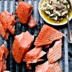 Slow Cooked Salmon with Meyer Lemon Relish Recipe