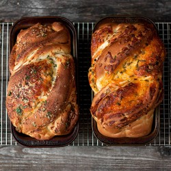Soft Cheese Bread with Cheddar Garlic Herbs