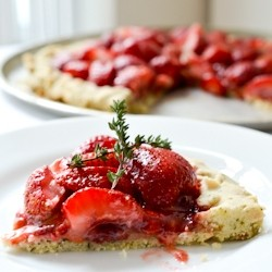 Strawberry Tart with Lemon Curd and Thyme Crust