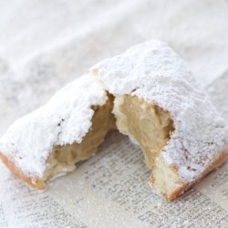 Vanilla Buttermilk Beignets with Chicory Cafe au Lait Custard