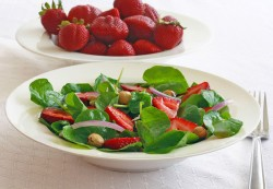 Watercress Strawberry and Toasted Hazelnut Salad