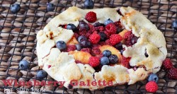 Wineberry Blueberry Peach Galette Recipe