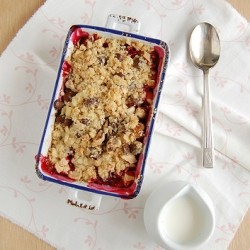 Apple Berry Almond Chocolate Crumble