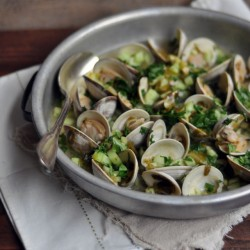 Asian Clams with Lime Mirin and Cucumber