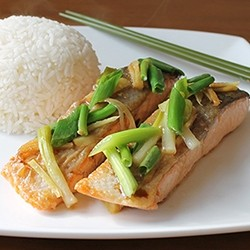 Chinese Steamed Salmon Recipe