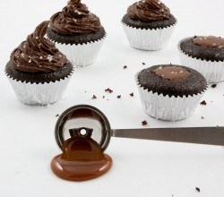 Chocolate Salted Caramel Mini Cupcakes