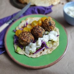 Falafel and Homemade Flatbreads with Tzatziki