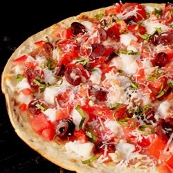 Grilled Antipasto Fish Pizza