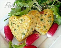 Heart Shaped Vegetable Cakes