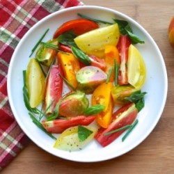 Heirloom Tomato Salad with Garlic Oil Recipe