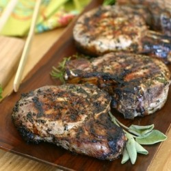 Herb Marinated Grilled Pork Chops Recipe