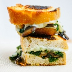 Kale Mushrooms Grilled Cheese Sandwich Recipe