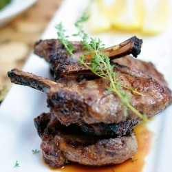 Lamb Chops in Soy Thyme Marinade