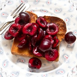 Lime Macerated Cherries on Toasted Brioche Recipe