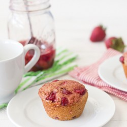 Maple Roasted Strawberry Muffins Recipe
