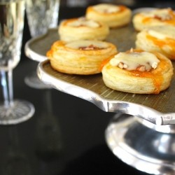 Mini Puff Pastry Tarts with Apricots Pecan and Brie Recipe