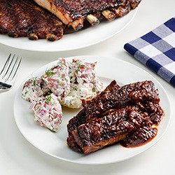 Oven Slow-Cooked BBQ Spare Ribs