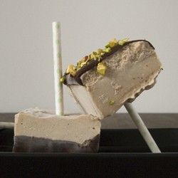 Peanut Butter Banana Ice Cream Bars with Pistachios
