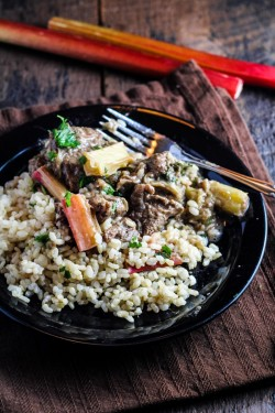 Persian Rhubarb and Beef with Rice Recipe