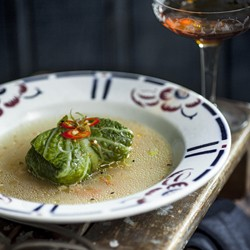 Prawn Parcels in Aromatic Asian Broth