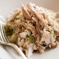 Roast Chicken Salad with Brown Rice and Apples