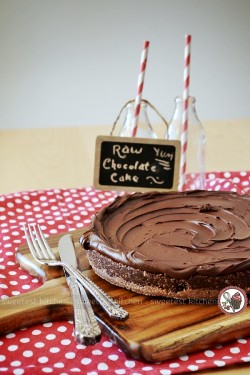 A delicious and indulgent raw chocolate cake that is…