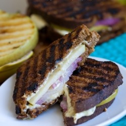 Apple Cheese Panini on Cinna Raisin Bread Vegan