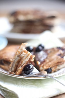 Banana Blueberry Whole Wheat Pancake Recipe