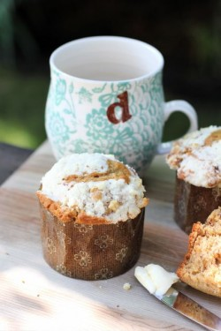 Banana Muffins with Walnut Streusel Recipe