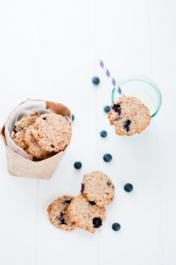 Blueberry Lemon Almond Cookies