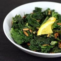 Braised Kale with Pepitas