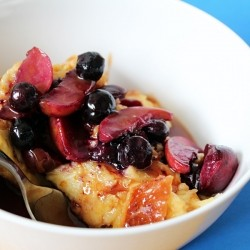 Bread Pudding with Caramelized Fruit and Caramel Recipe
