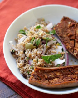 Bulgur Salad with Spiced Eggplant Recipe