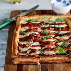 Caprese Tart with Roasted Tomatoes Recipe