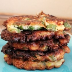 Cheddar Cheese Okra Fritters