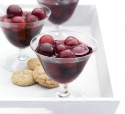 Cherries in Rose Wine and Vanilla Syrup