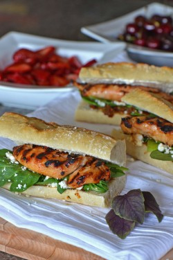 Chicken Sandwich with Pesto and Feta Recipe