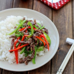 Chinese Stir Fried Beef and Bell Peppers Recipe