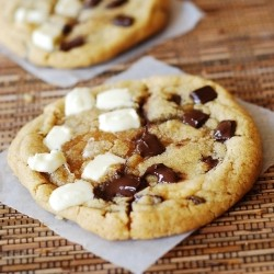 Chocolate Chip White Chocolate Chunk Cookies Recipe