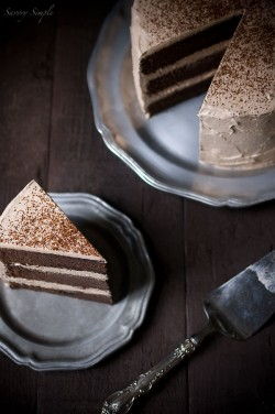 Chocolate Espresso Layer Cake Recipe